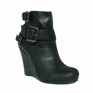 DKNY belted ankle booties